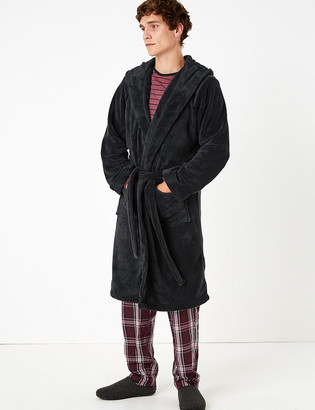 Marks and Spencer Fleece Hooded Dressing Gown