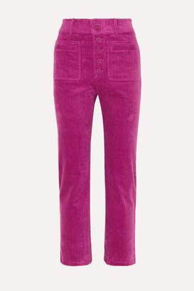 Apiece Apart Marston Cropped Stretch-cotton Corduroy Slim-leg Pants - Pink