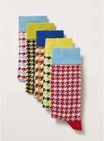 Topman Mens Multi Houndstooth Socks 5 Pack