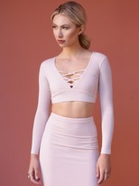 West Coast Wardrobe Well Played Crop Top in Blush