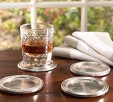 Pottery Barn Antique Silver Drink Coasters, Set of 4
