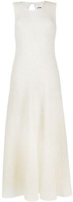 Jil Sander Open-Knit Flared Dress
