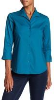 Foxcroft 3/4 Length Sleeve Shaped Fit Shirt