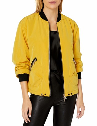 A|X Armani Exchange Women's Sporty Nylon Jacket with Waist Cinch Adjusters