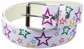 Old Glory Rainbow Stars Leather Belt