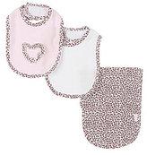 Little Me Leopard-Inspired Bib & Burp Cloth Three-Piece Layette Set