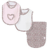 Little Me Leopard-Inspired Bib & Burp Cloth Three-Piece Set