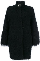 Blugirl fur effect midi coat - women - Acrylic/Polyamide/Polyester/Wool - 40