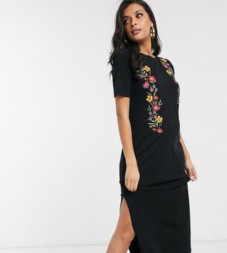 Asos DESIGN Maternity printed floral midi t-shirt dress