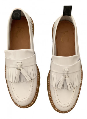 Fred Perry White Patent leather Flats