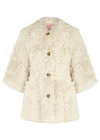 RED Valentino Ivory Reversible Shearling Coat