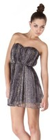 Twelfth Street By Cynthia Vincent Strapless Dress In Lurex Snake.