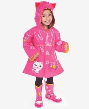 Kidorable Lucky Cat Raincoat, Toddler Girls