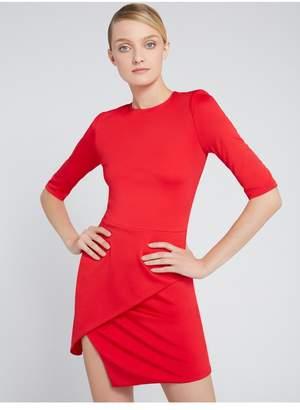 Alice + Olivia Nova Strong Shoulder Mini Dress