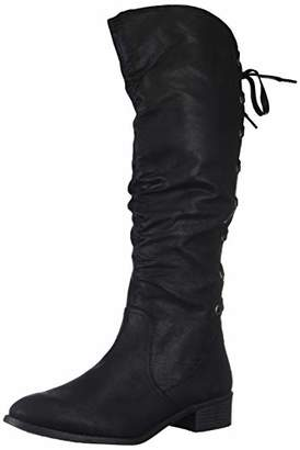 Rampage Women's Insola Lace-up Knee High Boot