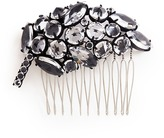 Lulu Frost 'Diamanda' glass crystal cluster leaf hair comb