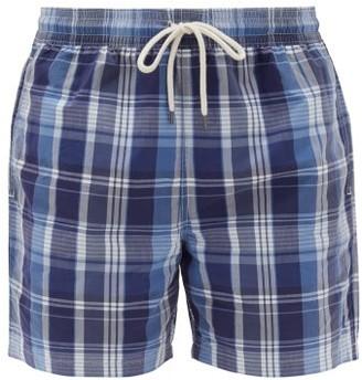 Polo Ralph Lauren Checked Cotton-blend Swim Shorts - Mens - Blue Multi
