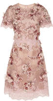 Marchesa Floral Embellished Cocktail Dress