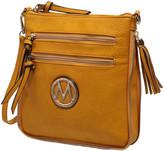 Mkf Collection By Mia K. MKF Collection by Mia K. Women's Handbags - Mustard Expandable Tassel-Accent Crossbody Bag