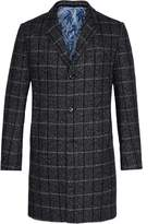Ted Baker Men's Ando Checked Wool Overcoat