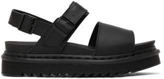 Dr. Martens Black Voss Sandals
