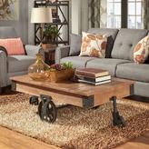 HomeSullivan Grove Place Factory Cart Rustic Pine Coffee Table