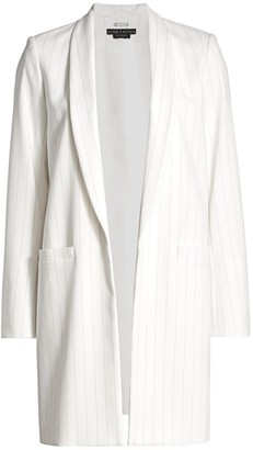 Alice + Olivia Kylie Long Stripe Jacket