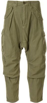 R 13 Harem cargo trousers