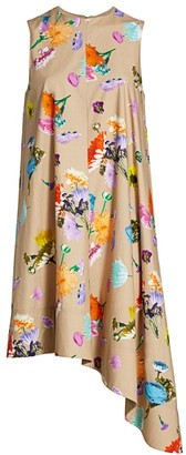 Tibi Arya Floral Sleeveless Dress