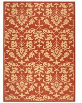 CLOSEOUT! MANUFACTURER'S CLOSEOUT! Safavieh Indoor/Outdoor Area Rug, Courtyard CY3416 Red / Natural