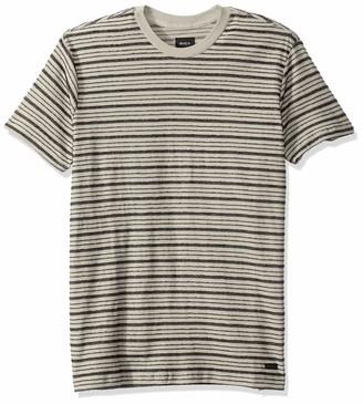RVCA Men's Amenity Stripe Short Sleeve Crew Neck Shirt