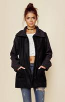 Jet john eshaya wool coat with contrast sleeves