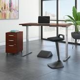 Möve 60 Series Height Adjustable Standing Desk Bush Business Furniture Color: Hansen Cherry