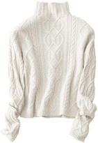Goodnight Macaroon 'Jasmin' Cashmere High Neck Cable Knit Sweater (7 Colors)