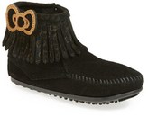 Minnetonka Girl's Hello Kitty Fringe Boot