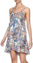 Solemio Paisley Print Dress