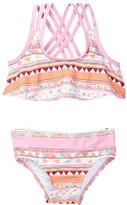 Jessica Simpson Ruffled Geo Print Bikini Set (Baby Girls)