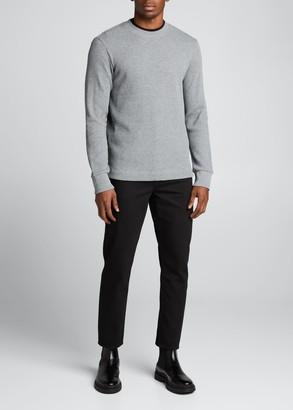 Theory Men's Mattis Organic Cotton Waffle-Knit Pullover