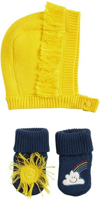Stella Mccartney Kids Cotton Blend Knit Hat & Socks
