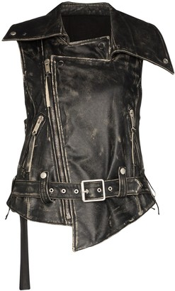 Unravel Project vintage look biker gilet