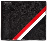 Thom Browne Diagonal Stripes Pebbled Leather Wallet