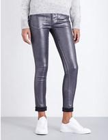 Diesel Coated skinny high-rise jeans