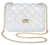 Charlotte Russe Clear Quilted Crossbody Bag