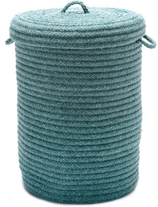 Colonial Mills Wool Blend Hamper Teal With Lid