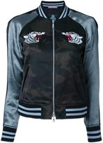 GUILD PRIME tiger embroidery bomber jacket