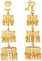 Lele Sadoughi Golden Pagoda Earrings