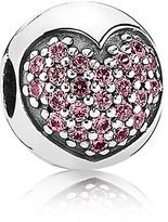 Pandora Clip - Sterling Silver & Pink Cubic Zirconia Love of My Life, Moments Collection