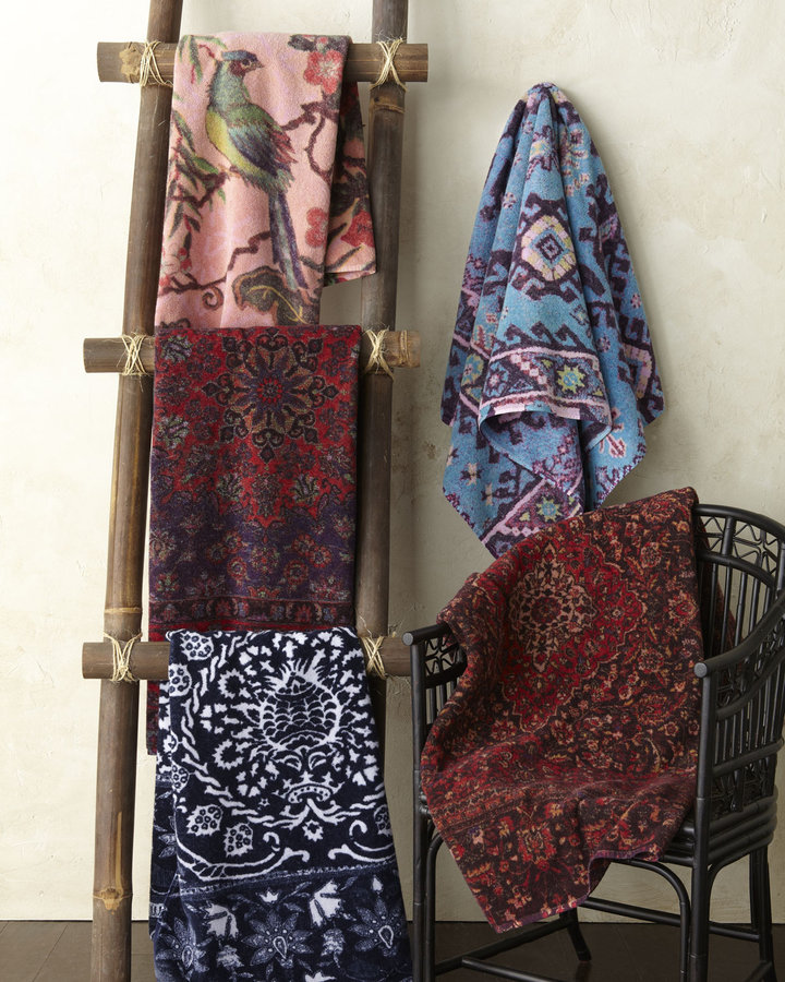 Horchow Fresco Towels Artistically Decorated Towels