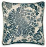 Croscill Marietta Floral Square Throw Pillow in Blue/Ivory