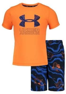 Under Armour Little Boy's Sport Fish Volley 2-Piece Tee & Shorts Set